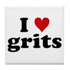 I Heart Grits Tile Coaster