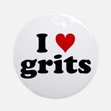 I Heart Grits Ornament (Round)