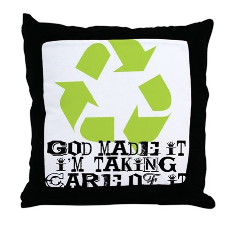 God Made It Throw Pillow