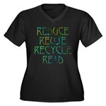 Four Rs Women's Plus Size V-Neck Dark T-Shirt