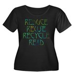 Four Rs Women's Plus Size Scoop Neck Dark T-Shirt