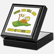 Golfing Humor For 90th Birthday Keepsake Box