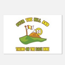 Golfing Humor For 90th Birthday Postcards (Package