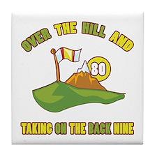 Golfing Humor For 80th Birthday Tile Coaster