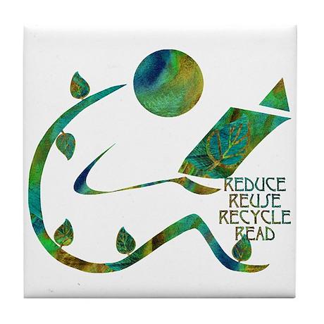 Four Rs Green Reader Tile Coaster