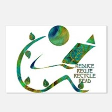 Four Rs Green Reader Postcards (Package of 8)