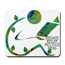Four Rs Green Reader Mousepad