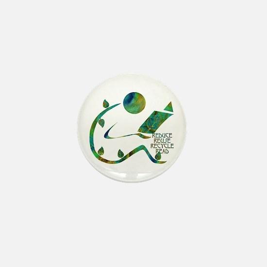 Four Rs Green Reader Mini Button