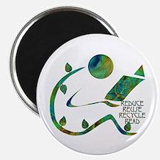 "Four Rs Green Reader 2.25"" Magnet (100 pack)"
