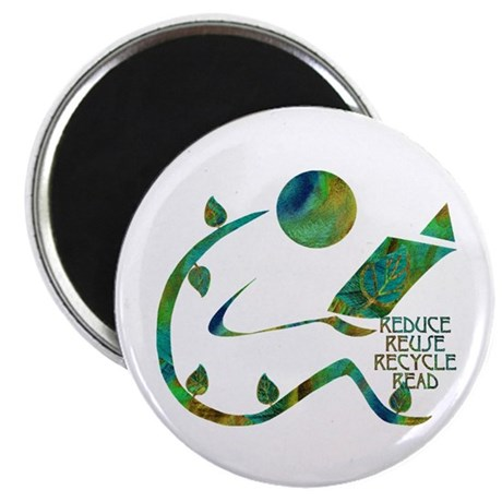 "Four Rs Green Reader 2.25"" Magnet (10 pack)"