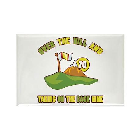 Golfing Humor For 70th Birthday Rectangle Magnet (