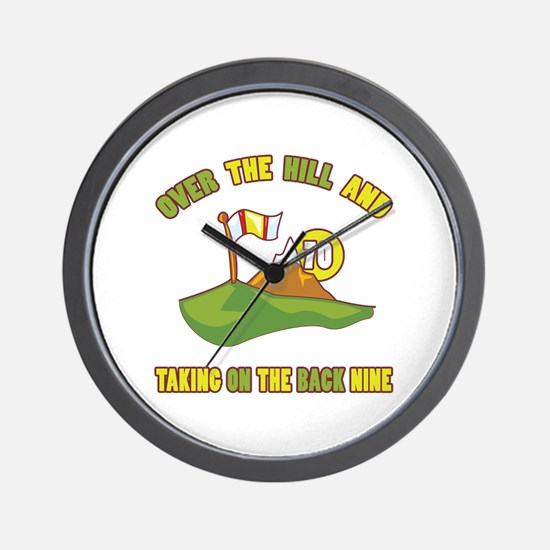 Golfing Humor For 70th Birthday Wall Clock