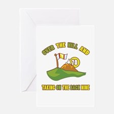 Golfing Humor For 70th Birthday Greeting Card
