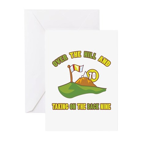 Golfing Humor For 70th Birthday Greeting Cards (Pk