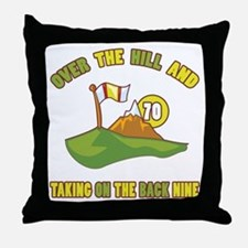 Golfing Humor For 70th Birthday Throw Pillow