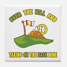Golfing Humor For 70th Birthday Tile Coaster