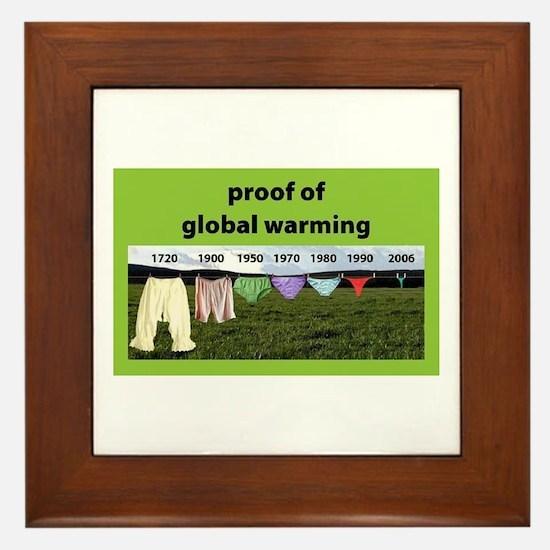 Cute Global warming Framed Tile