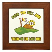 Golfing Humor For 60th Birthday Framed Tile