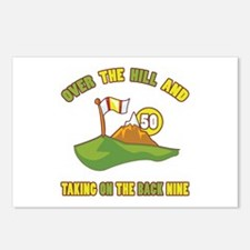 Golfing Humor For 50th Birthday Postcards (Package