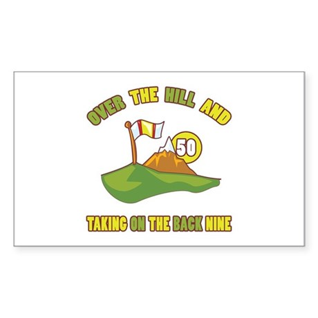 Golfing Humor For 50th Birthday Sticker (Rectangle