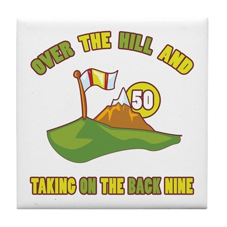 Golfing Humor For 50th Birthday Tile Coaster