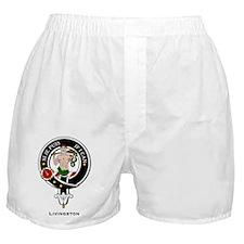 Livingston Clan Crest Badge Boxer Shorts