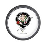 Livingston Clan Crest Badge Wall Clock
