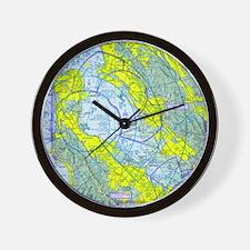 SFO Airspace Chart Wall Clock