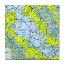 SFO Airspace Chart Tile Coaster
