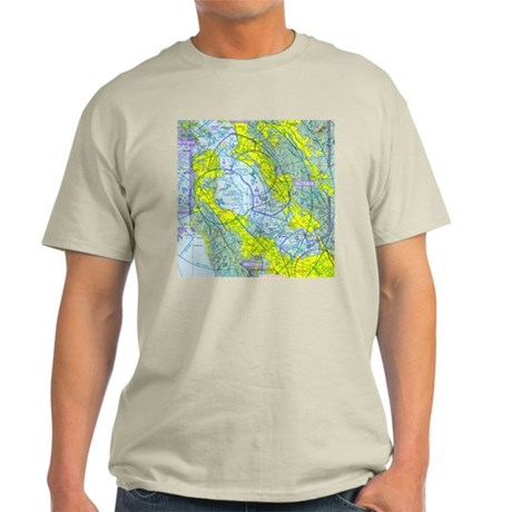 SFO Airspace Chart Light T-Shirt