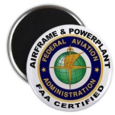"FAA Certified A & P Mechanic 2.25"" Magnet (10 pack"