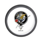 Leslie Clan Crest Badge Wall Clock
