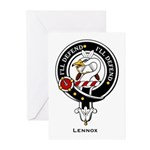 Lennox Clan Crest Badge Greeting Cards (Package of