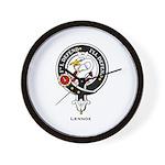 Lennox Clan Crest Badge Wall Clock