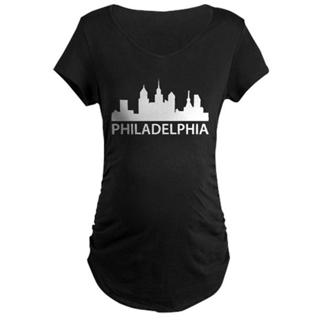 Philadelphia Skyline Maternity Dark T-Shirt
