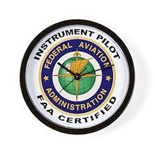 FAA Certified Instrument Pilot Wall Clock