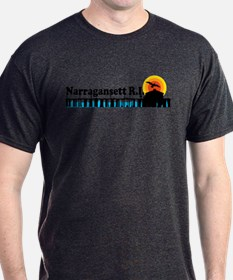 Narragansett RI - Pier Design T-Shirt