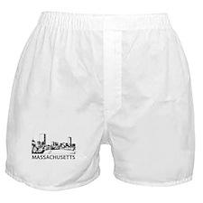Massachusetts Skyline Boxer Shorts