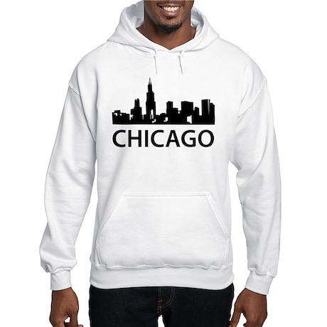 Chicago Skyline Hooded Sweatshirt