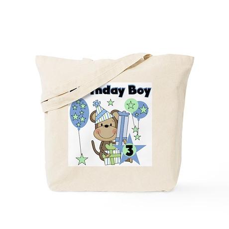 Monkey 3rd Birthday Tote Bag