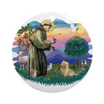 St Francis #2/ Cairn Ter Ornament (Round)