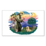St Francis #2/ Cairn Ter Sticker (Rectangle)