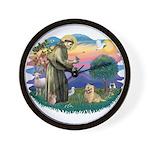 St Francis #2/ Cairn Ter Wall Clock
