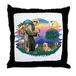 St Francis #2/ Cairn Ter Throw Pillow
