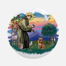 St Francis #2/ Brussels G Ornament (Round)