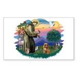 St Francis #2/ Brussels G Sticker (Rectangle 10 pk