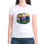 St Francis #2/ Brussels G Jr. Ringer T-Shirt