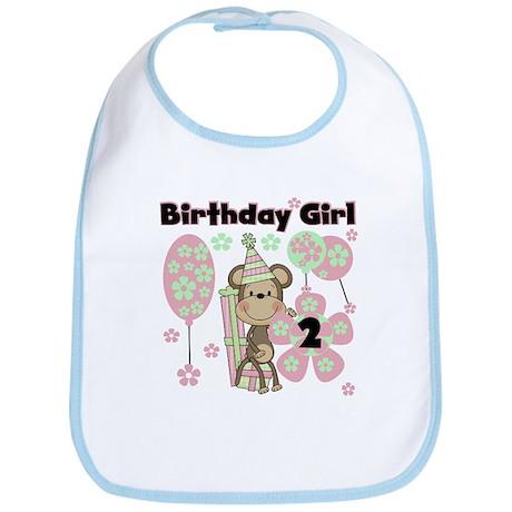 Girl Monkey 2nd Birthday Bib