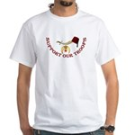Shriners Support our Troops White T-Shirt