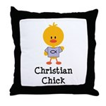 Christian Chick Throw Pillow